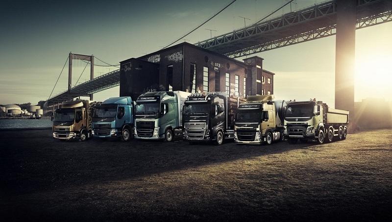 Volvo truck lineup.