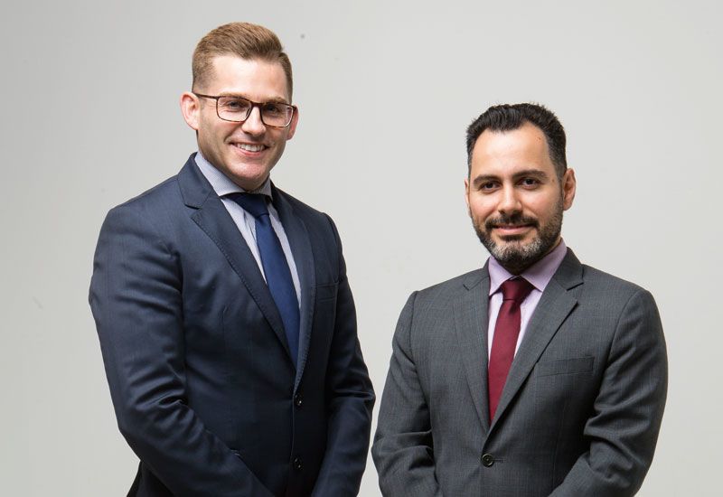 Steven Carpenter (left) and Elie Ghoussoub (right) from WSP | Parsons Brinckerhoff.