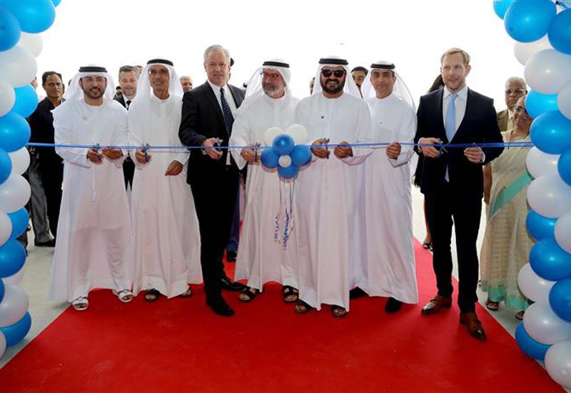 Dignitaries cut the ribbon to inaugurate the $10.8m Dubai warehouse.