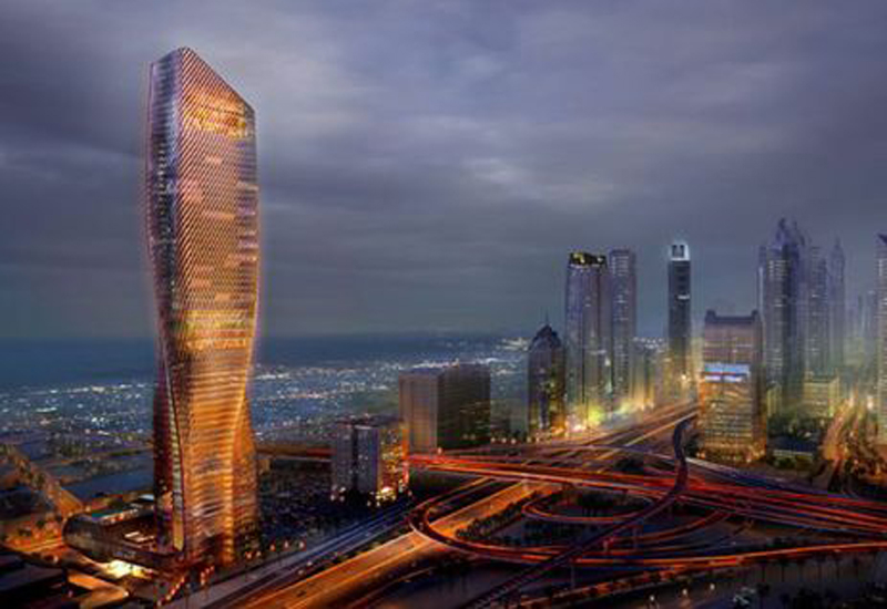 Wasl Tower is being built on Dubai's Sheikh Zayed Road.