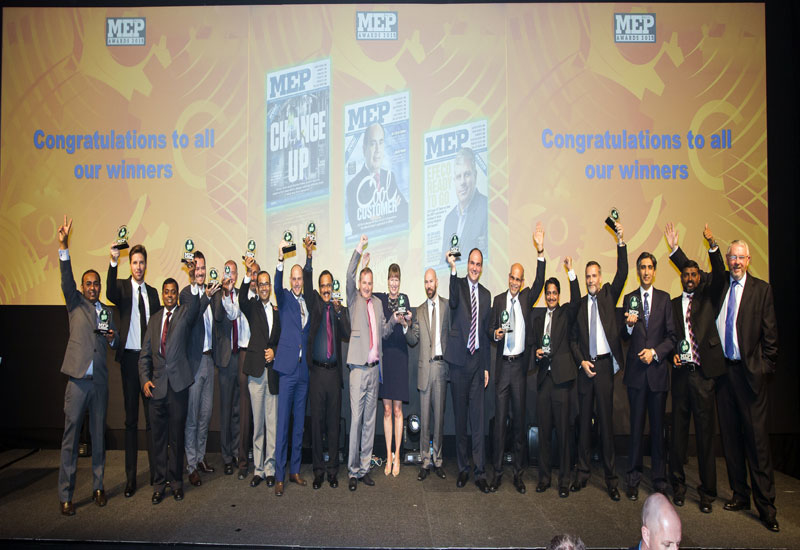 Winners from the MEP Middle East Awards 2015.
