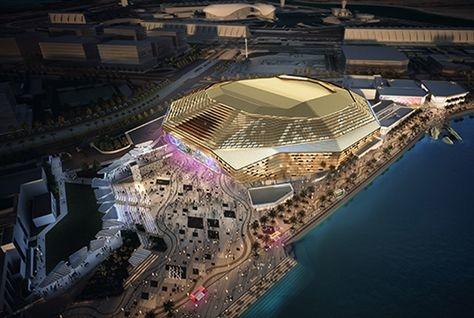 Rendering of Yas Arena in Abu Dhabi.