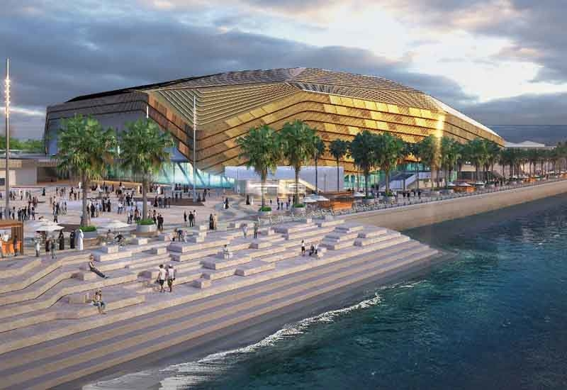 Rendering of the arena at the Yas Bay development in Abu Dhabi.