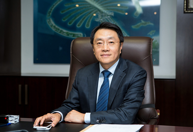 Yu Tao told Construction Week that China's Belt and Road initiative was a good opportunity for the contractor.