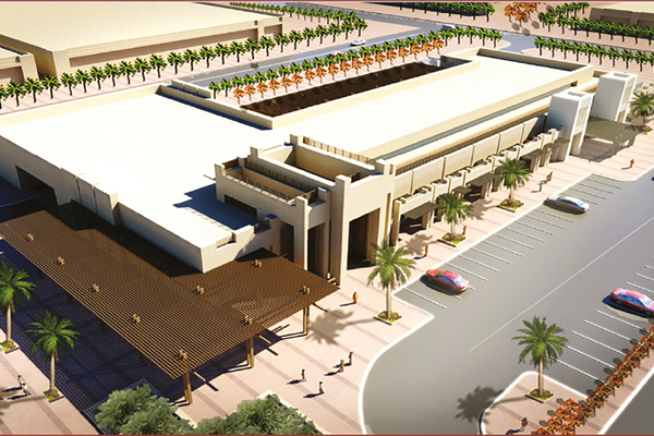 An artist's rendition of a market to be constructed in Al Ain.
