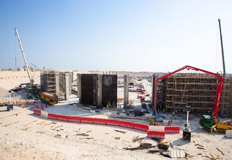 Construction on Al Bayt Al Khor World Cup stadium (image SC).