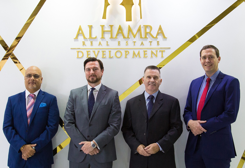 Raman Garg (group CFO), Ross Hargrove (Manar Mall manager), Paul Healy (head of facility management) and Frederic Savoye (president of hospitality).