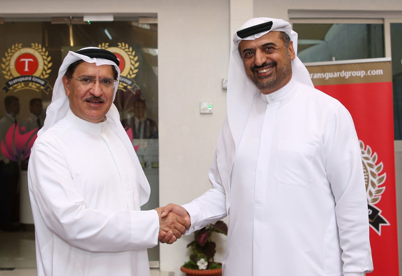 From left: Dr. Abdulqader Alkhayat, Chairman, Al Tadawi Medical Centre with Dr. Abdulla Al Hashimi, CEO, Transguard Group