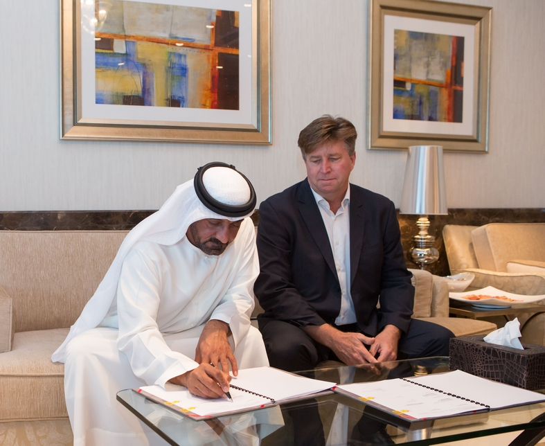 H H Sheikh Ahmed Bin Saeed Al Maktoum signs deal with ALEC for expansion.