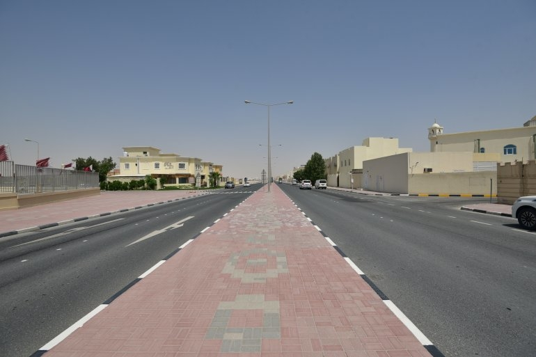 A view of a section of Doha's Al Gharrafa district.