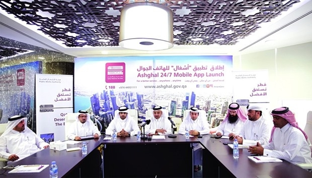 Ashghal officials announced the launch of the mobile app during a press conference.