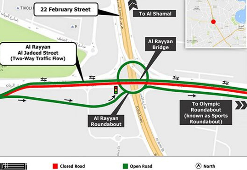 Ongoing roadworks undertaken by Qatar's Public Works Authority, Ashghal, has necessitated a six-month-long diversion on Al Rayyan Bridge.