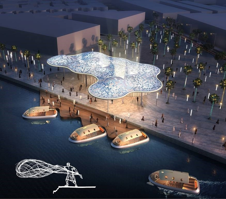 Atkins design concept for the marine transport stations.