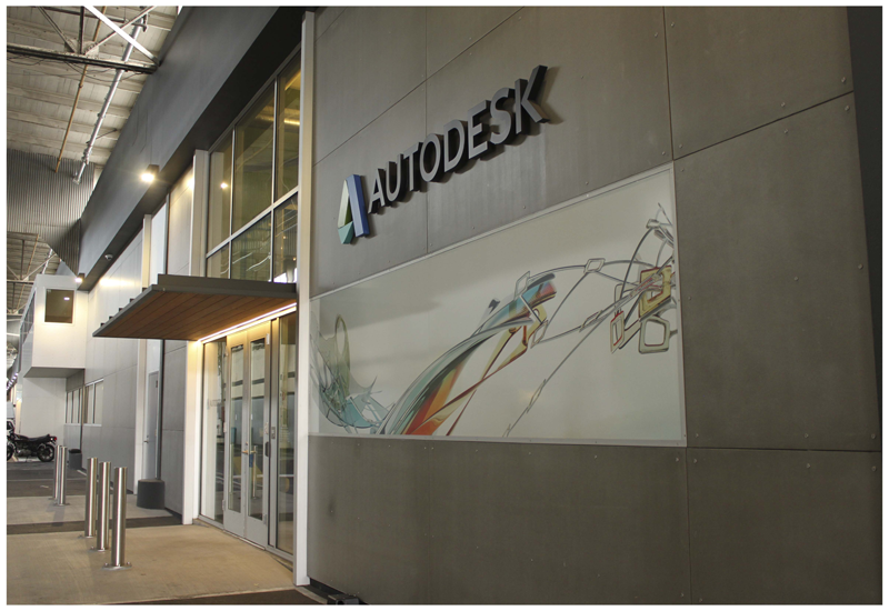The Autodesk LIVE experience draws viewers into the architectural design.