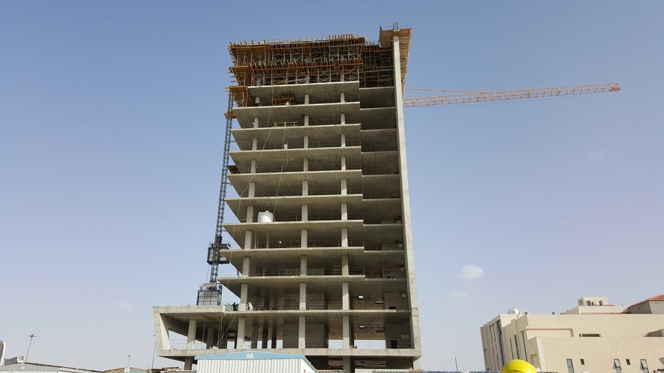 The 14-storey CMC Tower is located on Riyadh's King Fahed Road.