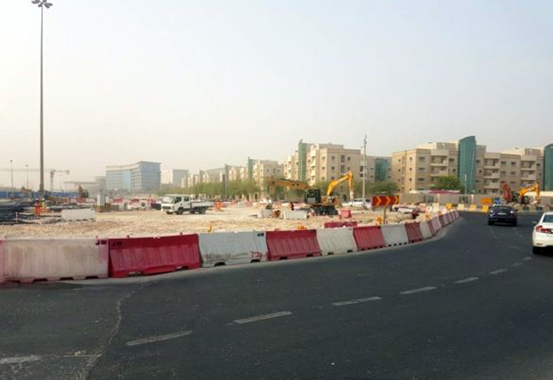 Ashghal informs that work on the intersection is expected to finish by the end of September.[Image: Doha News]