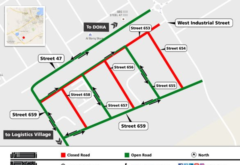 Numerous roads will be closed for a year following Ashghals implementation of a variety of road works.