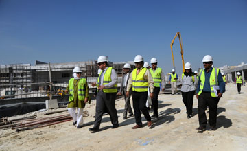 A dialysis centre project in Bahrain's Hunainiya area is now 63% complete [image: BNA].