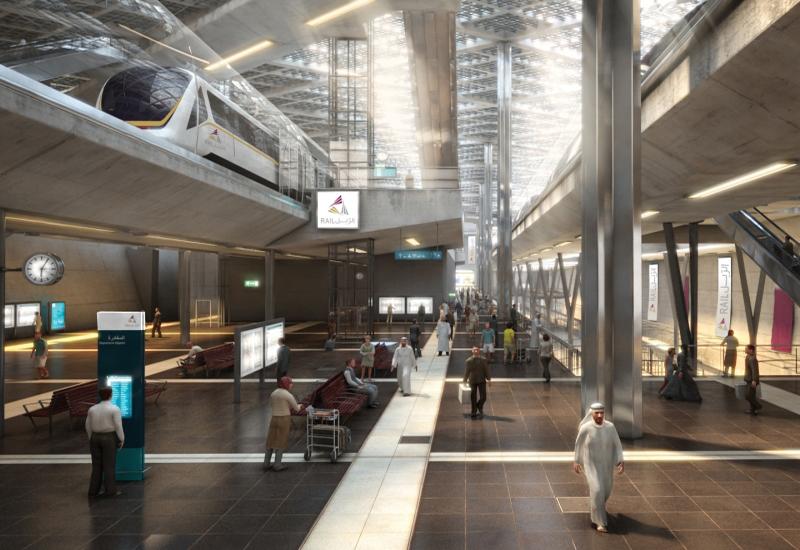 Artist's impression of Doha Metro.