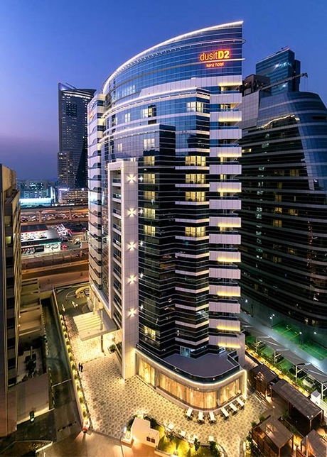 The 240-key hotel is located in Dubai's Barsha Heights.