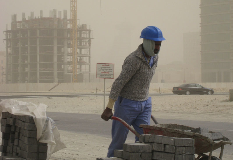 Al Naboodah issues staff anti-dust masks if they work during a UAE sandstorm [representational image].