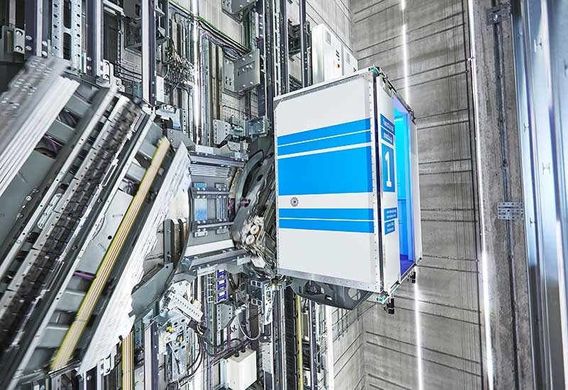 Thyssenkrupp is behind the worlds first rope-free elevator, a system that harnesses the power of linear motor technology to move multiple cars in a single shaft, according to Chemaly, CEO of the companys Middle East operations.