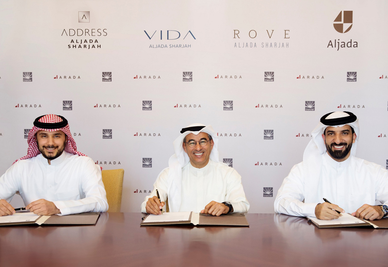 Arada and Emaar Hospitality Group have signed an agreement to launch three hotels in Sharjah.