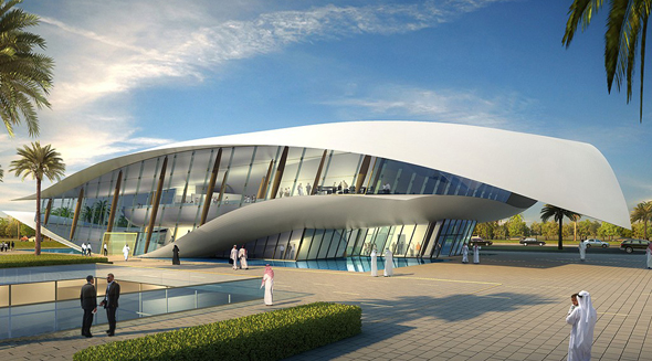 The Etihad Museum in Dubai, UAE.