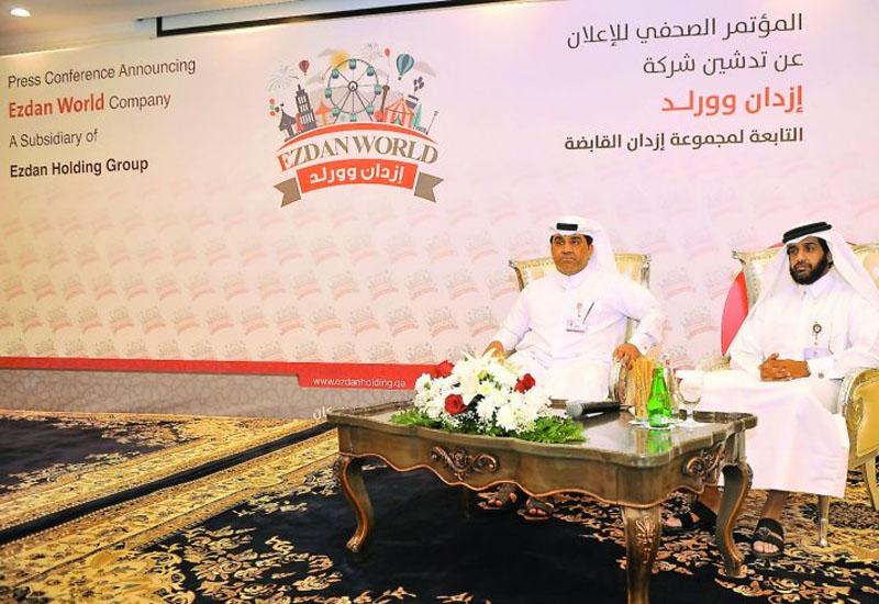 Ezdan Holding Group CEO Ali Mohammed Al Obaidli (left) and Ezdan World General Manager Abdulaziz Al Mohannadi at the press meet yesterday. (image: The Peninsula).