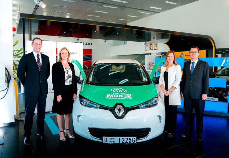 Farnek took delivery of its Renault Zoe in November last year, pledging to add more EV to its fleet in the coming years.
