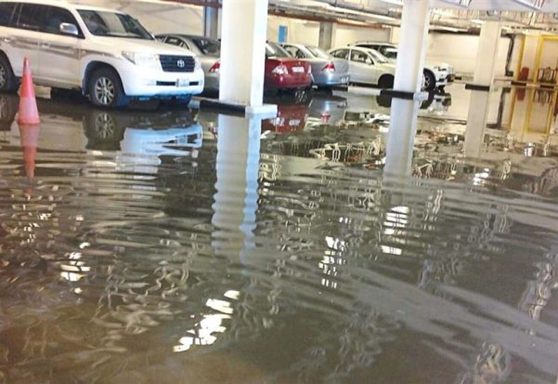 A flooded carpark in a Doha building from last year, clear indication of inadequate drainage within the city.