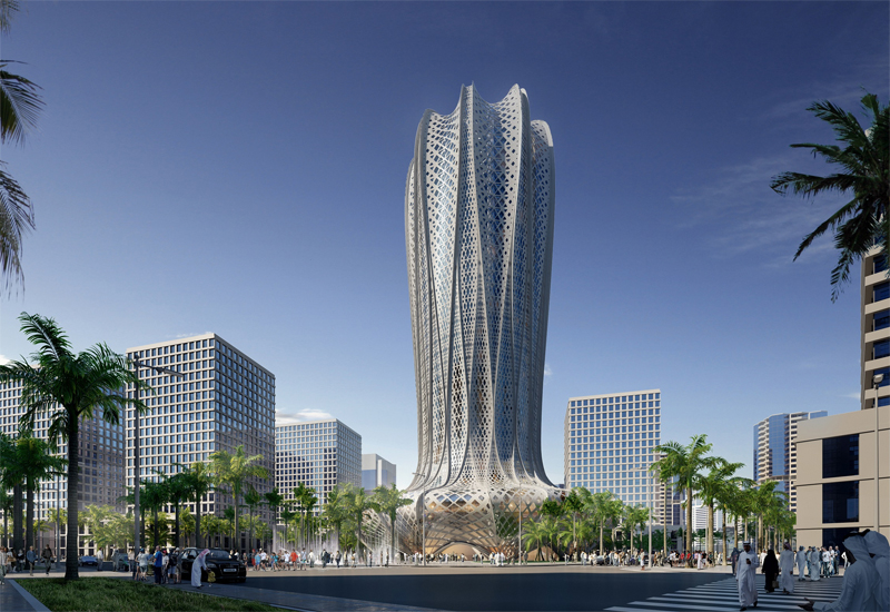 Inspired by the shape of the desert hyacinth, the one buildings is a 38-story tower in the Marina district of Lusail.
