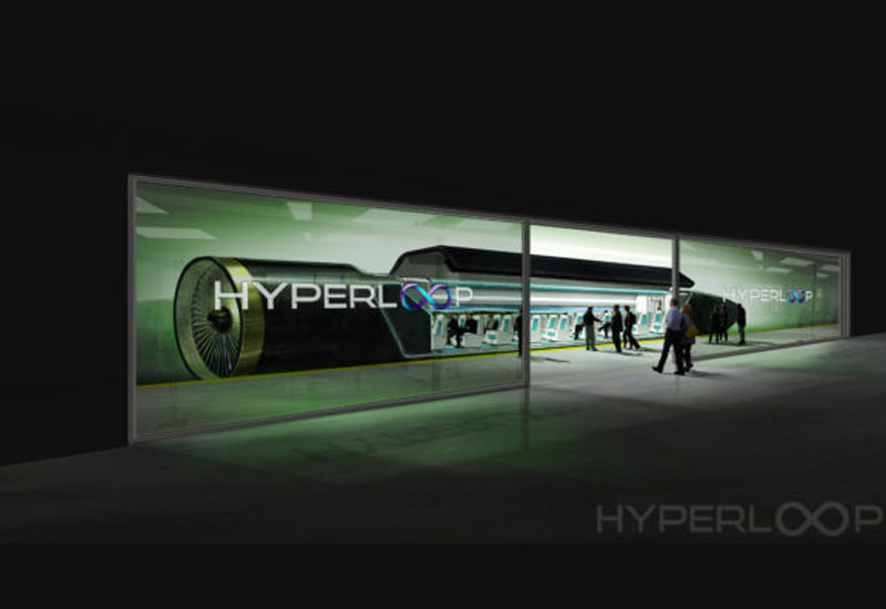 The Hyperloop pod, as envisaged by an artist.
