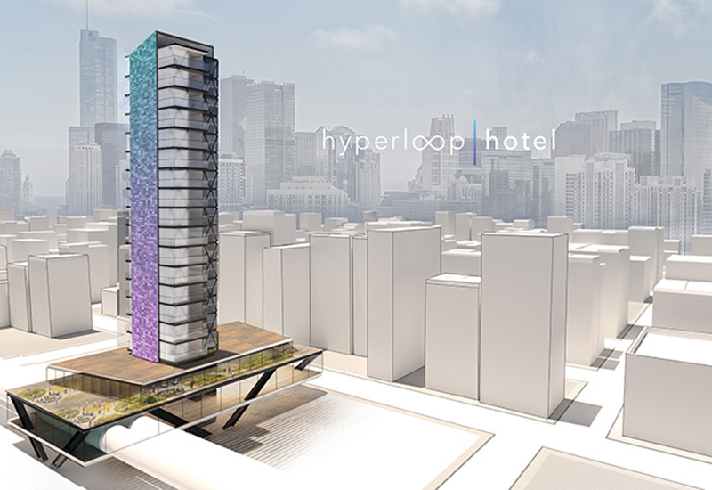 Hyperloop hotel concept.