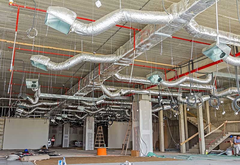 Fiberglass, plastic foam, and stone wool are the major materials used as insulation for HVAC.
