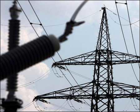 Power transmission lines-illustrative image only.