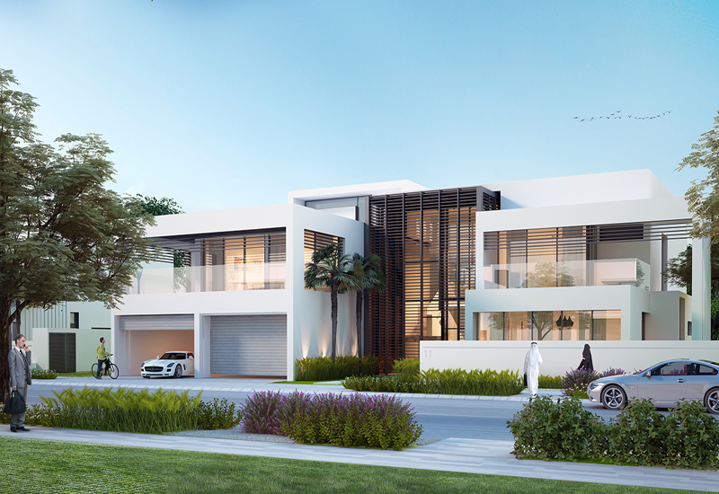 The villas' built-up area ranges from 636 to 1,268 sqm, and include two to four shaded car parks.