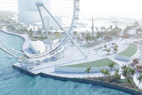 An artist's rendition of the Jeddah Corniche project.
