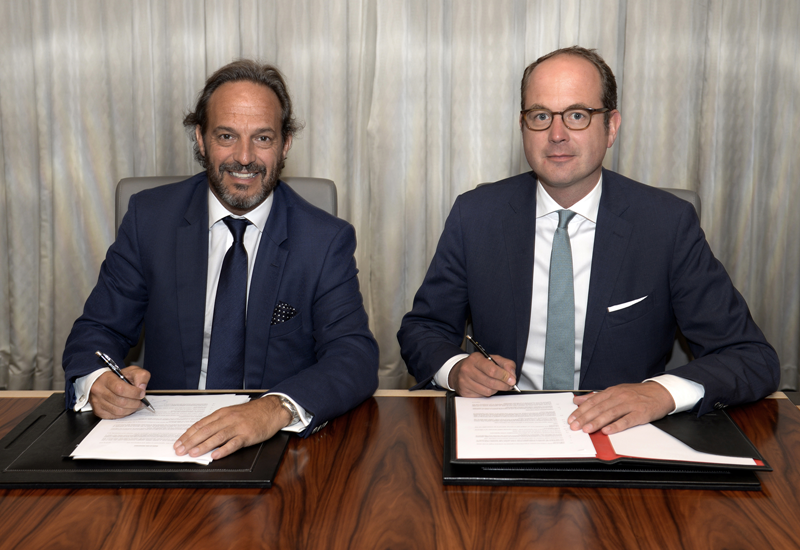 From left to right - Federico Tauber, CEO Gemstone and Markus Semer, chairman and CEO of Kempinski.