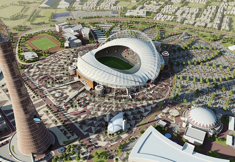 Khalifa International Stadium is due to be the first of the World Cup stadia to be completed.