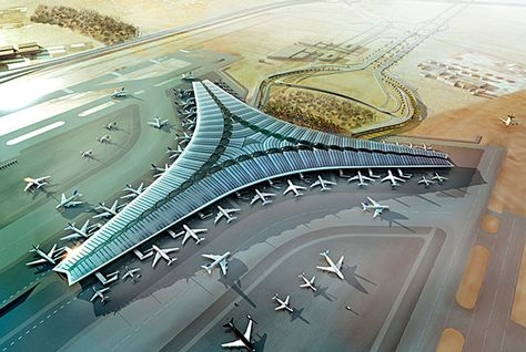 A new terminal is under construction at the Kuwait International Airport.