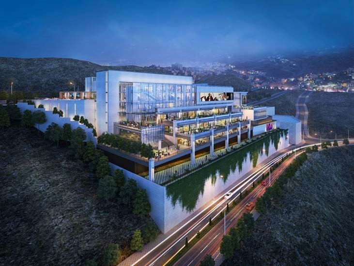 The seven-storey development is set to be Palestines largest shopping destination.