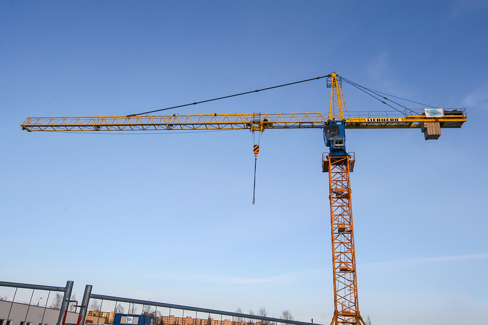 A Liebherr 200 EC-H 12 Litronic tower crane.