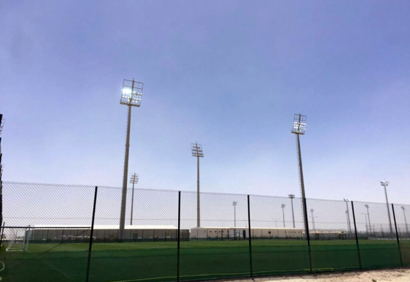 Floodlights from the deconstructed Al Rayyan stadium have found a new home in the club's newly-constructed training sites, in line with the Supreme Committee for Delivery & Legacy's (SC) environmental sustainability goal. (image SC website)