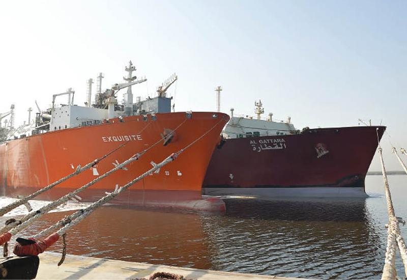 Qatargas-chartered Q-Flex LNG Vessel 'Al Gattara' moored at Port Qasim in Pakistan. (Image The Peninsula)