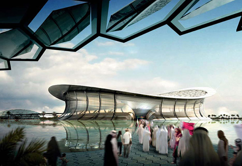 Lusail Stadium rendering, as submitted by Qatar during bid process.