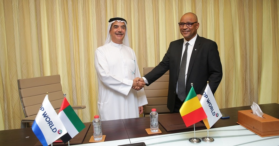 The deal was signed by Suhail Al Banna, CEO and MD, DP World MENA and Moulaye Ahmed Boubacar, minister of equipment and transport, Mali.