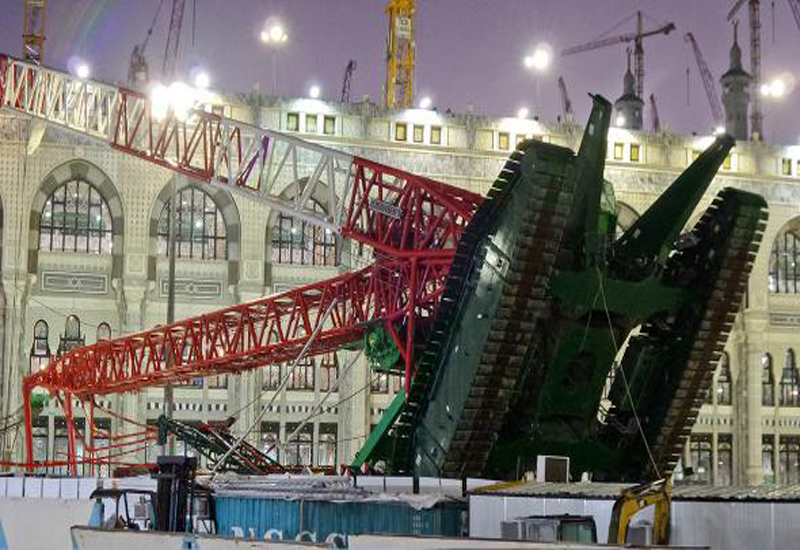 The 1,350 tonne crane collapsed onto the Grand Mosque bringing down slabs of concrete on worshippers below in September last year.