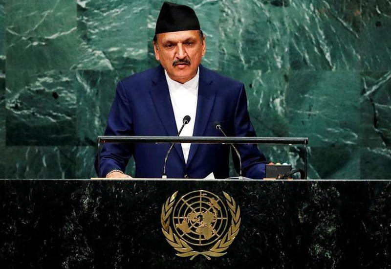 Minister for Foreign Affairs of Nepal Prakash Sharan Mahat addresses the United Nations General Assembly in the Manhattan borough of New York, U.S., September 24, 2016. REUTERS/Eduardo Munoz