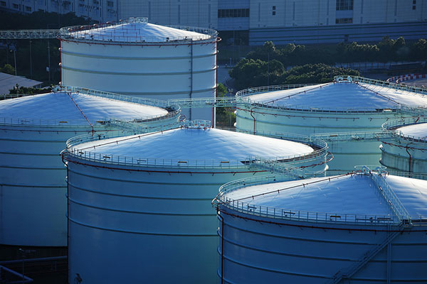 Oil storage tanks-image for illustrative purposes only.